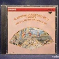 CDs de Música: ALBINONI, I MUSICI, FÉLIX AYO, HEINZ HOLLIGER - 6 CONCERTI OP. 9 - CD. Lote 269612838