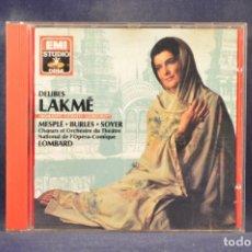 CDs de Música: DELIBES: MESPLÉ, BURLES, SOYER, COMIQUE, LOMBARD - LAKMÉ (HIGHLIGHTS) - CD. Lote 269613653