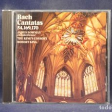 CDs de Música: BACH, JAMES BOWMAN, THE KING'S CONSORT, ROBERT KING - SOLO CANTATAS BWV54, BWV169, BWV 170 - CD. Lote 269616523