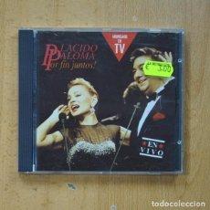 CDs de Música: PLACIDO DOMINGO / PALOMA SAN BASILIO - POR FIN JUNTOS - CD. Lote 269638218