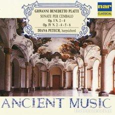 CDs de Música: GIOVANNI BENEDETTO PLATTI: SONATE PER CEMBALO (DIANA PETECH) (CD, ALBUM). Lote 269714663
