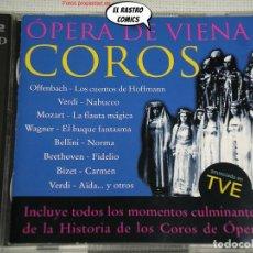 CDs de Música: ÓPERA DE VIENA, COROS, ORQUESTA DEL VOLKSOPER, W. LOIBNER, F. BAUER, THEUSSL, DOBLE 2 CD, PDI, 1998. Lote 269732133