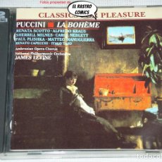 CDs de Música: PUCCINI, LA BOHEME, SOLOISTS, AMBROSIAN OPERA CHORUS, TRINITY BOYS´ CHOIR, N. P. ORCHESTRA J LEVINE. Lote 269736858
