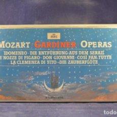 CDs de Música: MOZART, GARDINER, OPERAS - IDOMENEO, DIE ENTFÜHRUNG AUS DEM SERAIL, LE NOZZE DI FIGARO, ETC. - 18 CD. Lote 269787183