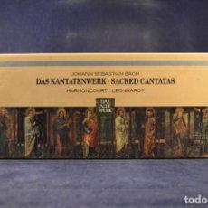 CDs de Música: JOHANN SEBASTIAN BACH, HARNONCOURT, LEONHARDT - DAS KANTATENWERK / SACRED CANTATAS - 60 CD. Lote 269787803