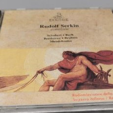 CDs de Música: RUDOLF SERKIN, PIANOFORTE - SCHUBERT, BACH, BEETHOVEN, BRAHMS, MENDELSSOHN. - ERMITAGE 1990. Lote 269809668