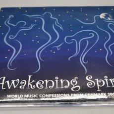 CDs de Música: AWAKENING SPIRITS ESPÍRITUS DEL DESPERTAR. CONFESIONES DE MÚSICAS DEL MUNDO DE DINAMARCA 2006/07. Lote 269812053