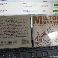 CDs de Música: MILTON BANANA CD SAMBAS DE BOSSA BRASIL 1993. Lote 269832203
