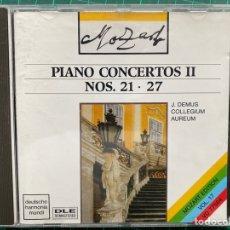 CDs de Música: MOZART / JÖRG DEMUS, COLLEGIUM AUREUM - PIANO CONCERTOS NOS. 21 & 27 (CD, ALBUM). Lote 269834048