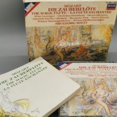 CDs de Música: VIENNA PHILHARMONIC ORCHESTRA / GEORG SOLTI - MOZART / DIE ZAUBERFLÖTE - THE MAGIC FLUTE - 3CD+LIB.. Lote 269842863