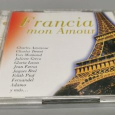 CDs de Música: FRANCIA MON AMOUR (2CD, SEND, 2003)-49 TEMAS..PIAF, TRENET, BECAUD, BREL, ,. Lote 269843158