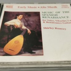 CDs de Música: SHIRLEY RUMSEY - MUSIC OF THE SPANISH RENAISSANCE - CD NAXOS. Lote 269843978
