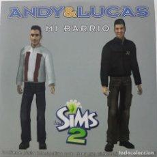 CDs de Música: ANDY & LUCAS - MI BARRIO - LOS SIMS 2 - CD PROMOCIONAL CON PISTA INTERACTIVA - 2005. Lote 269936758