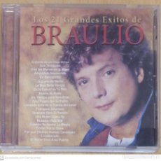 CDs de Música: BRAULIO (LOS 21 GRANDES EXITOS DE BRAULIO) CD 1989 MANZANA. Lote 270254518