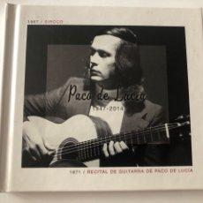 CDs de Música: CD PACO DE LUCÍA - 2CD SIROCO + RECITAL DE GUITARRA. Lote 270369783