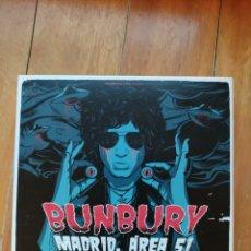 CDs de Música: BUNBURY. MADRID, ÁREA 51... EN UN SOLO ACTO DE DESTRUCCIÓN MASIVA!!! 2 CDS + 2 DVDS. Lote 270390593