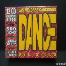 CDs de Música: LAS MEJORES CANCIONES DANCE DEL SIGLO 12 CDS -500CANCIONES 15 HORAS NON STOP BLANCO Y NEGRO PEPETO. Lote 270396493