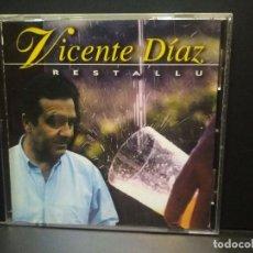 CDs de Música: VICENTE DIAZ - RESTALLU CD ALBUM 1995 FOLK ASTURIANO ASTURIAS PEPETO. Lote 270405258
