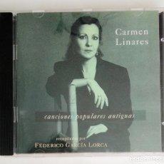 CDs de Música: CD 1994 - CARMEN LINARES / LORCA - CANCIONES POPULARES ANTIGUAS - EXCELENTE ESTADO (AUVIDIS FRANCE). Lote 270550148