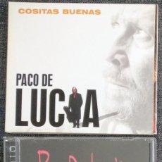 CDs de Música: LOTE CD PACO DE LUCÍA: COSITAS BUENAS (DIGIPACK) + GUITAR TRÍO CON MEOLA Y JOHN MC LAUGHLIN (1996). Lote 270562968