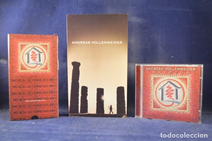CDs de Música: ANDREAS VOLLENWEIDER - KRYPTOS (EDICIÓN LIMITADA NO. 360 DE 1000) - CD + VHS - Foto 3 - 270596748