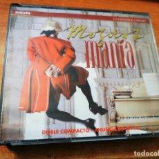 CDs de Música: MOZARTMANIA LOS EXITOS DE W. A. MOZART DOBLE CD ALBUM 1991 CONTIENE 24 TEMAS 2 CD PHILIPS MUY RARO. Lote 270631238