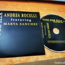 CDs de Música: ANDREA BOCELLI & MARTA SANCHEZ VIVO POR ELLA CD SINGLE PROMOCIONAL DEL AÑO 1995 1 TEMA. Lote 270634823