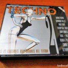 CDs de Música: TODO TECHNO 2 - DOBLE CD DEL AÑO 1993 DURAN DURAN YAZOO OMD ULTRAVOX KRAFTWERK TIENE 24 TEMAS 2 CD. Lote 270641633