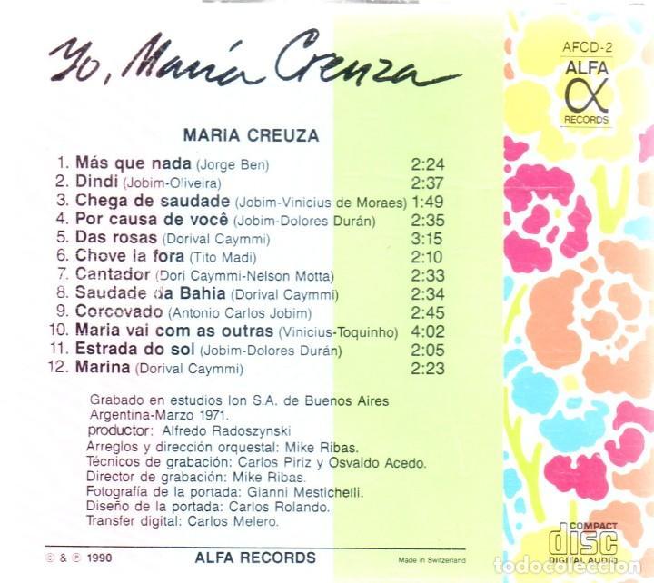 CDs de Música: VESIV CD YO MARIA CREUZA - Foto 2 - 270664463