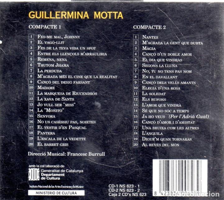 CDs de Música: VESIV CD DOBLE GUILLERMINA MOTTA SEGONS LA LLUNA 40 CANÇONS - Foto 2 - 270664488