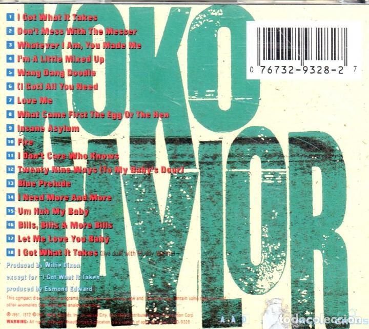 CDs de Música: VESIV CD KOKO TAYLOR WHAT IT TAKES THE CHESS YEARS - Foto 2 - 270664593