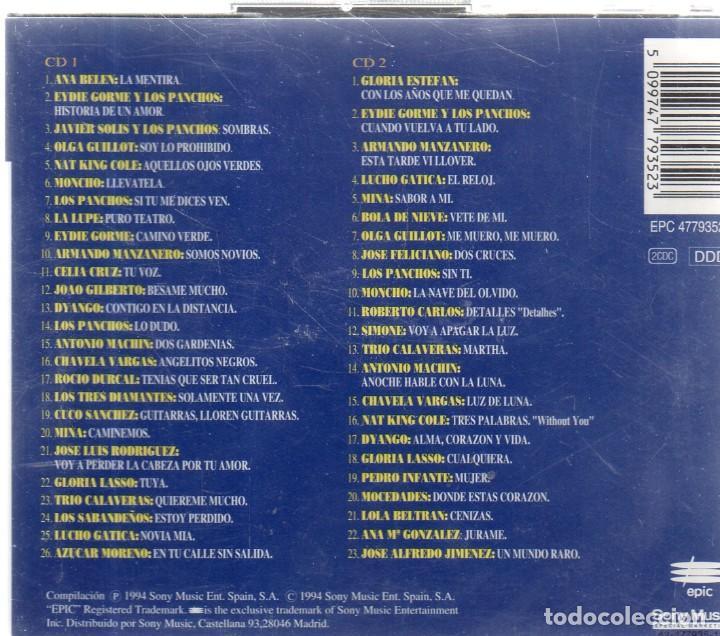 CDs de Música: VESIV CD DOBLE 100 AÑOS DE BOLERO VOL 1 - Foto 2 - 270665348