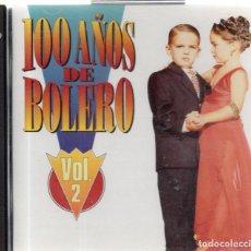 CDs de Música: VESIV CD 100 AÑOS DE BOLEROS VOL 2. Lote 270668598