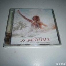 CDs de Música: LO IMPOSIBLE CD BANDA SONORA ORIGINAL FERNANDO VELAZQUEZ JOSE ANTONIO BAYONA NUEVA PRECINTADA. Lote 270897228