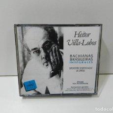 CDs de Música: DISCO 3 X CD. HEITOR VILLA-LOBOS – BACHIANAS BRASILEIRAS INTEGRALES. COMPACT DISC.. Lote 270998008
