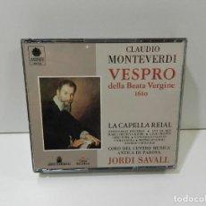 CDs de Música: DISCO 2 X CD. CLAUDIO MONTEVERDI – VESPRO DELLA BEATA VERGINE 1610. COMPACT DISC.. Lote 270998203