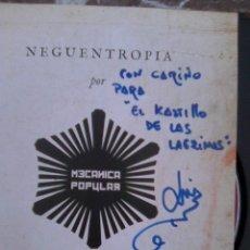 CDs de Música: ¡ DISCOLIBRO FIRMADO POR LUIS DELGADO ! - MECÁNICA POPULAR - NEGUENTROPÍA (WARNER, 2009). Lote 270998463