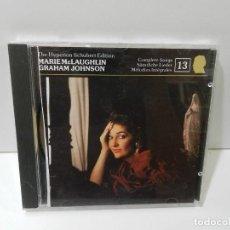CDs de Música: DISCO CD. SCHUBERT - MARIE MCLAUGHLIN, GRAHAM JOHNSON – COMPLETE SONGS. COMPACT DISC.. Lote 270999283