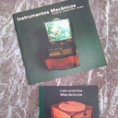 CDs de Música: INSTRUMENTOS MECÁNICOS (FUNDACIÓN JOAQUÍN DÍAZ, 2006) - CD-LIBRO + LIBRETO - RARA PRECIOSIDAD. Lote 271002323
