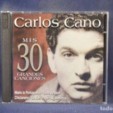 CDs de Música: CARLOS CANO - MIS 30 GRANDES CANCIONES - 2 CD. Lote 289825388