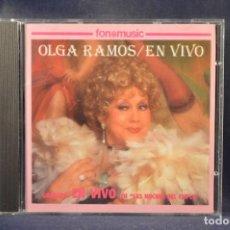 """CDs de Musique: OLGA RAMOS - OLGA RAMOS EN VIVO - GRABADO EN VIVO EN """"LAS NOCHES DEL CUPLÉ"""" - CD. Lote 271382513"""