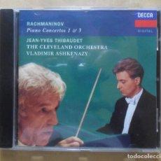 CD de Música: CD - RACHMANINOV - PIANO CONCERTOS 1 & 3 - DECCA - 1995. Lote 271601553