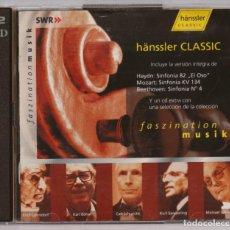 CDs de Música: 2 CD. HAYDN SINFONIA 82. MOZART KV 134. BEETHOVEN 4. HANSSLER CLASSIC. Lote 271652738