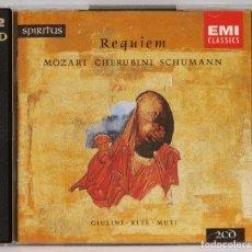CDs de Música: 2 CD. REQUIEM. MOZART. CHERUBINI. SCHUMANN. Lote 271653213