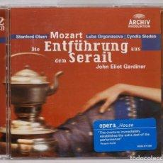 CDs de Música: 2 CD. MOZART. DIE ENTFUHRUNG AUS DEM SERIAL. GARDINER. Lote 271655053