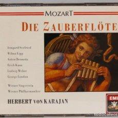 CDs de Música: 2 CD. DIE ZAUBERFLOTE. MOZART. KARAJAN. Lote 271659383
