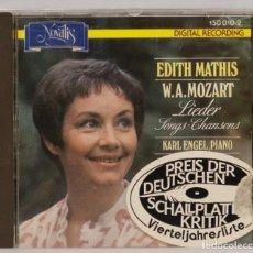 CDs de Música: CD. LIEDER. SONGS. MOZART. MATHIS. Lote 271661988