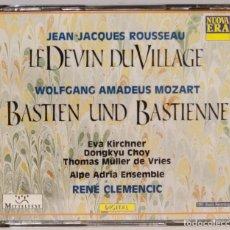 CDs de Música: 2 CD. LE DEVI DUVILLAGE. ROUSSEAU. BASTIEN UND BASTIENNE. MOZART. Lote 271663803