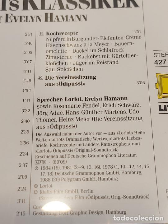 CDs de Música: EVELYN HAMANN / LORIOTS KLASSIKER / CD-D. GRAMMOPHON LITERATUR / 20 TEMAS / IMPECABLE. - Foto 5 - 271844328