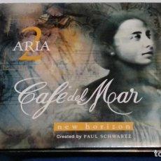 CDs de Música: DIGIPAK - CD (CAFE DEL MAR-ARIA 2 NEW HORIZON ) ALBUM 1999 CAFE DEL MAR MUSIC - CHILLOUT CHILL OUT. Lote 271911388